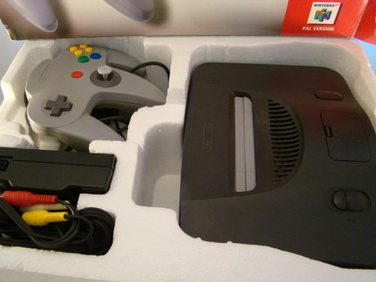 Nintendo-64-Game-console-Used-pal-Systeem-N-64-Spelcomputer