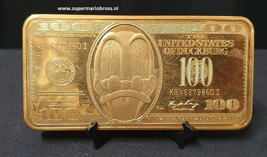 Disney-Uncle-Scrooge-Gold-Plated-Coin-And-Baar-Collection-Ducktales-Dagobert-Duck-Gold
