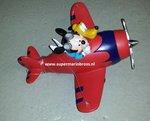 Mickey & Pluto in Plane - Mickey en Pluto in vliegtuig - Disney Deco Beeldje - Boxed