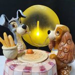 Lady and The Tramp Moonlit Romance - Jim Shore Disney Showcase Enesco Collection Used Lighted italian Diner