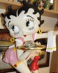 Betty Boop Serveerster Pink Dress - Betty Boop Waitress - Polyester Dekoratiebeeld Used