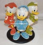 Donald Duck Kwik Kwek en Kwak Beeldje - Donald Duck Huey - Deweyen Louis Statue