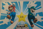 Strijkpatroon Mario & Luigi and shining star