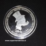 Disney The First Of Uncle Scrooge Silver Coin - Dagobert Duck Eerste Munt 999 verzilverd