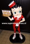 Betty Boop Waitress 3 Ft High - Betty Boop Serveerster 100 cm Hoog - Polyester Dekoratiebeeld New