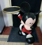 Disney Mickey waiter statue