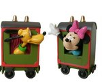 minnie en Pluto in train Car 12cm