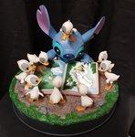 Stitch with Ducklings Statue - Disneyland Paris