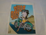 Strijk patroon Betty Boop op Motorcycle