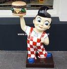 American Big Boy Hamburger Holding 3 Ft Dekoratie Beeld - Bob's Big Boy Restaurant Advertising Sixties Style - New