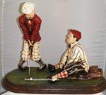 Laurel & Hardy Golfer -  Dikke en de Dunne aan het Golfen - Polyester Dekoratie Beeld