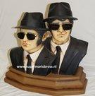 Blues Brothers Buste - 50 cm Polyester - Dekoratie - MEUBELS - DECO