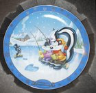 WB looney Tunes WARNER BROS GALLERY COLLECTOR'S EDITION PLATE FISHING FOR COMPLIMENTS Plate Boxed