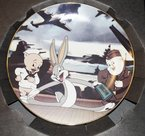 Warner Bros. Looney Tunes Any Bonds Today Plate Bugs Bunny Porky Pig Elmer Fudd Collectors Edition