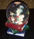 Disney Pinocchio & Jiminy Cricket Christmas Snow Globe Musical Naughty Nice 5 ""