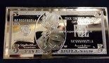 Walt Disney Dagobert Duck 24 K Five Dollar Goud Baar - Scrooge Mc Duck 5 $ Gold-Plated Baar