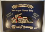 Motorcycle Repair Shop Davidson's reclame bord