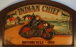Indian Chief Motorcycle - 1953 - reclamebord