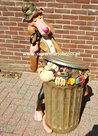Pink-Panther-and-Clouseau-garbage-Can-Big-Statue-Universe-115cm-High-very-rare-Cartoon-Figure-litter-Bin