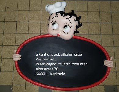 Betty Boop Menu Board - Betty Boo Menuborden Original Polyester KFS Betty Krijtbord Boxed