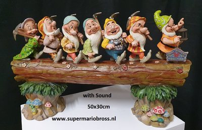 7 Dwarfs Musical Trunk Jim Shore Disney Traditions Masterpiece Big Fig New Boxed