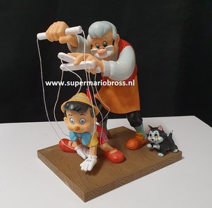 Pinocchio and Gepetto Little Wooden Head Figurine - Disney Enchanting Collection New boxed