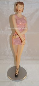 COLLECTION EROTISSIMO -SEXY LADY - FRANCES - Handpainted Pinup Figurine - Erotisch beeldje