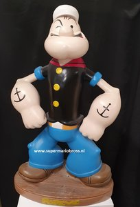 Popeye Stand Alone 100cm hoog Used Statue - King features syndicate Popeye Cartoon Figure Polyresin Decobeeld