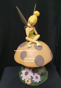 Disney Tinkerbell on Mushroom Big Garden Statue - Tinkerbell op Paddenstoel - Tinkerbell Cartoon Decoratie beeldje Used very Ra