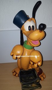 Pluto sitting With Mailbox Large Polyester Statue Rare - Walt Disney Pluto als Postbode Big Fig polyester Rare Boxed
