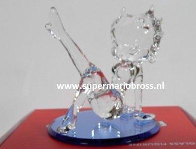 Betty Boop Leg Up 10cm Glass Figurine - Betty Boop Leg Up - Cartoon Decoratie Boxed