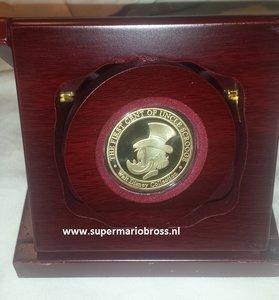 Walt Disney Collection The First Of Uncle Scrooge - Dagobert Munt 999 verguld met opbergbox