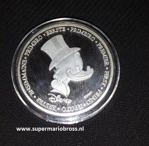Walt Disney First Of Uncle Scrooge Euro Silver Coin - Dagobert Duck Eerste Euro Munt 999 verzilverd