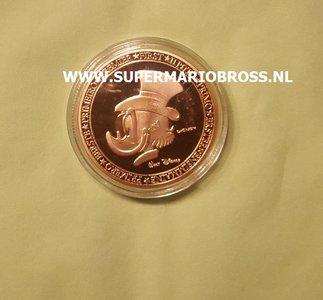 Walt Disney First Euro Of Uncle Scrooge United Europe Gold Coin - Dagobert Duck Eerste Euro Munt United Europe