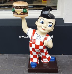 American Big Boy Hamburger Holding 3 Ft Dekoratie Beeld - Bob's Big Boy Restaurant Advertising Sixties Style - New