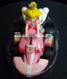 Princes Peach Pull Back Kart Figurine  -  Pvc Pull back cart 12 x 9 cm groot