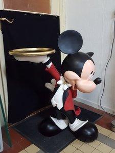 Mickey Mouse Butler - 93 cm - Disney Mickey Waiter Statue - losse arm zeer goede staat