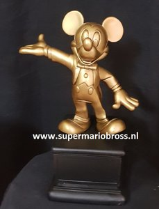 Walt Disney Mickey Mouse Gold Cast Member Award 34cm Big Figurine Statue very Rare