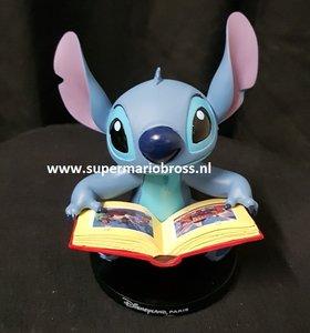 Stitch reading a Book small disneyland Paris figurine 12x10cm New no Box