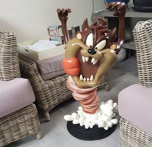 Tasmanian Devil Butler Waiter - Looney Tunes Big Statue 76cm High - Kelner Ober Decoratiebeeld New Boxed