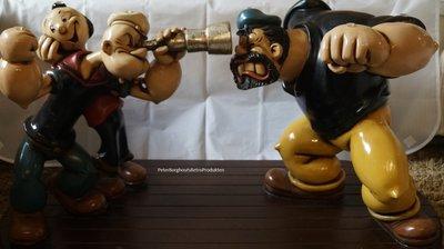Popeye Brutus en Olive Table - Dekoratie Table Popeye Big Statue New