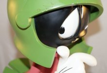 "Commander-X-23 Marvin The Martian Warner bros, 16 "" Big Figure Statue used"