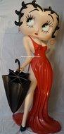 Betty Boop With Umbrella - Decoratiebeeld