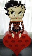 Betty Boop Wijnrek - Wine Rack / Bar Holder - Decoratiebeeld
