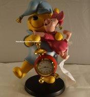 Winnie the Pooh & Piglet klokje -  Dekoratie beeldje