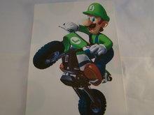 Strijkpatroon Luigi op Crossmotor,