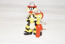 Sylvester en Tweety Firemen - 1998 Pvc Figuurtje