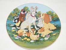 Lady & The Tramp Cartoon Classics - Collector Plate Lady And The Tramp