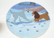 Lady & The Tramp Puppy Love - Collector Plate Lady And The Tramp
