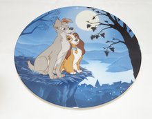 Lady & The Tramp Moonlight Romance - Collector Plate Lady en de Vagabond